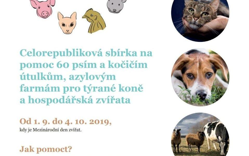 DEN ZVÍŘAT  - celorepubliková sbírka pro všechna zvířátka a ...