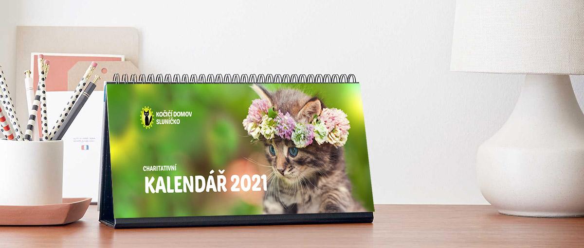 Kalendář 2021 Kočičí domov Sluníčko